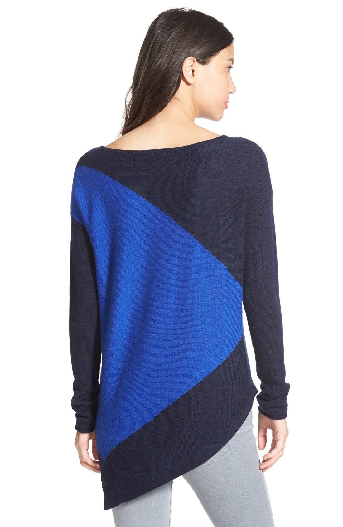 Alternate Image 2  - Halogen® Asymmetrical Wool & Cashmere Sweater