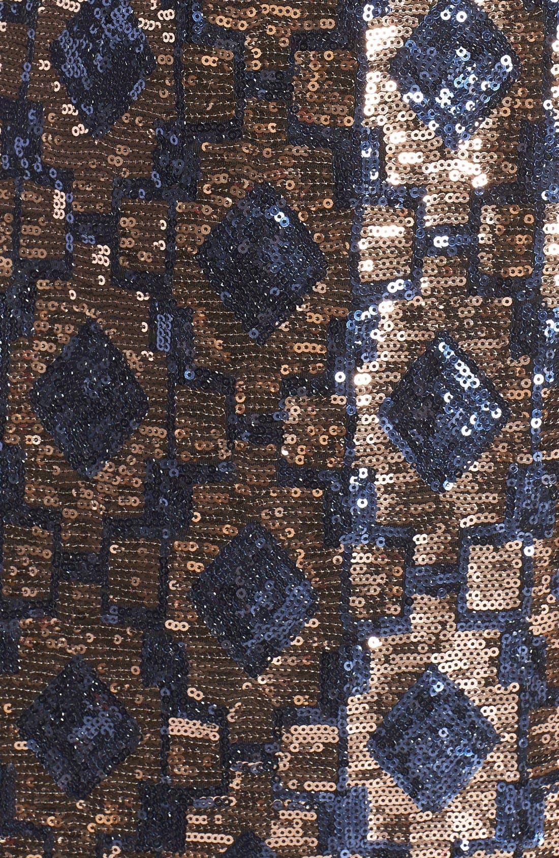 Alternate Image 4  - Vince CamutoGeometric Sequin Chiffon Shift Dress