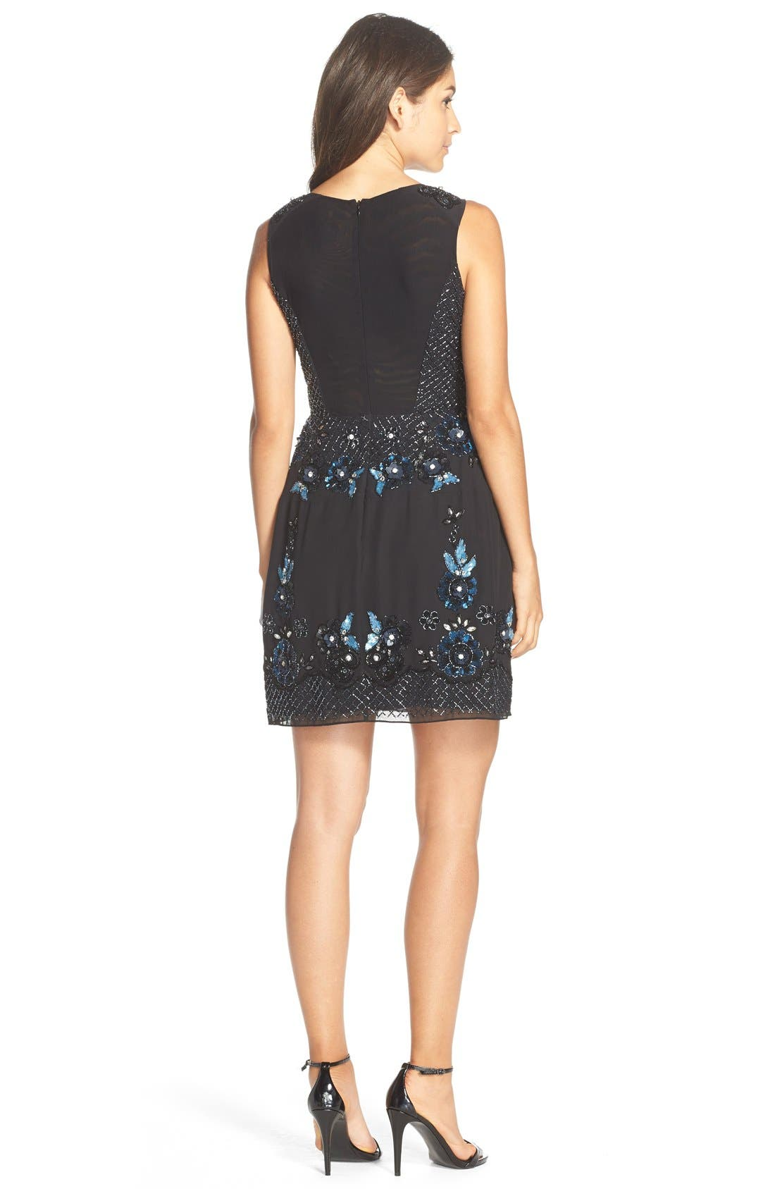 Alternate Image 2  - Needle & Thread 'Midnight Crystal' Embellished Georgette Fit & Flare Dress