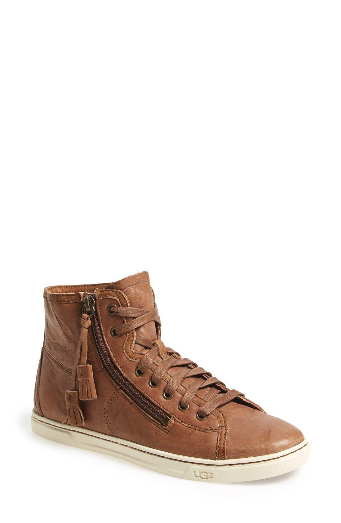 Alternate Image 1 Selected - UGG® 'Blaney' Tasseled High Top Sneaker (Women)