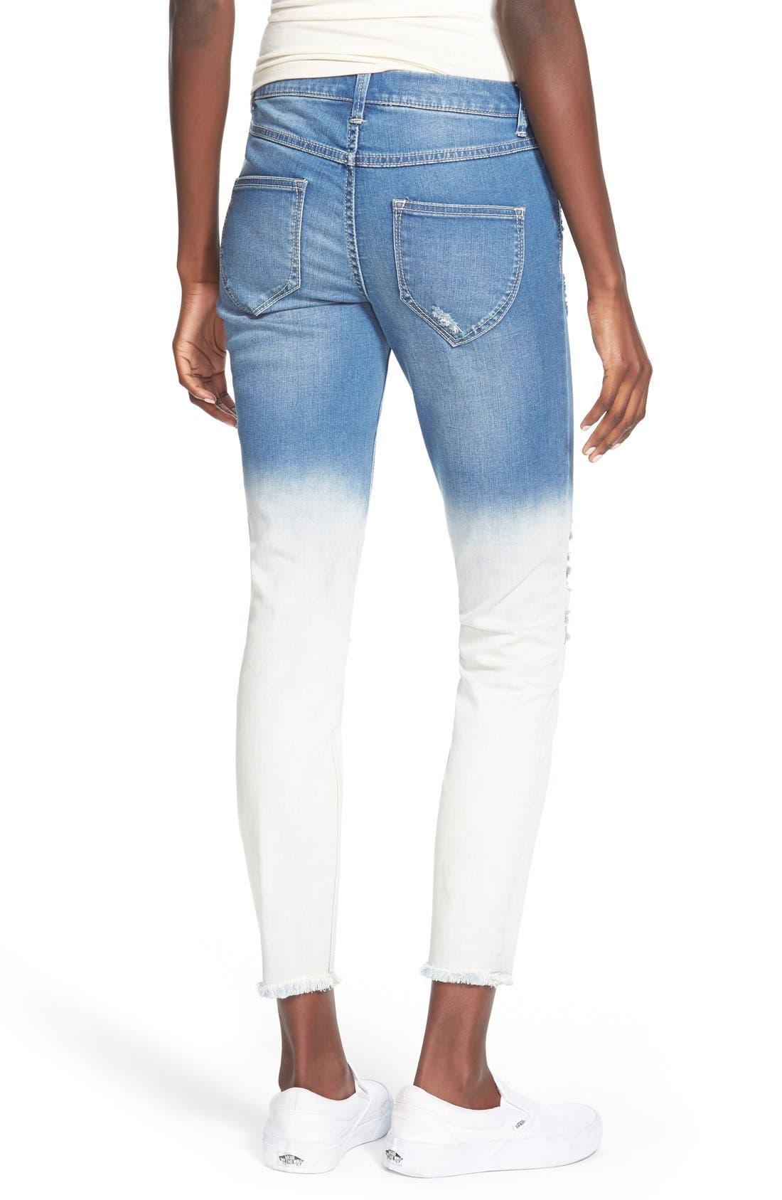 Alternate Image 2  - Generra Dip Bleached Destroyed Skinny Jeans