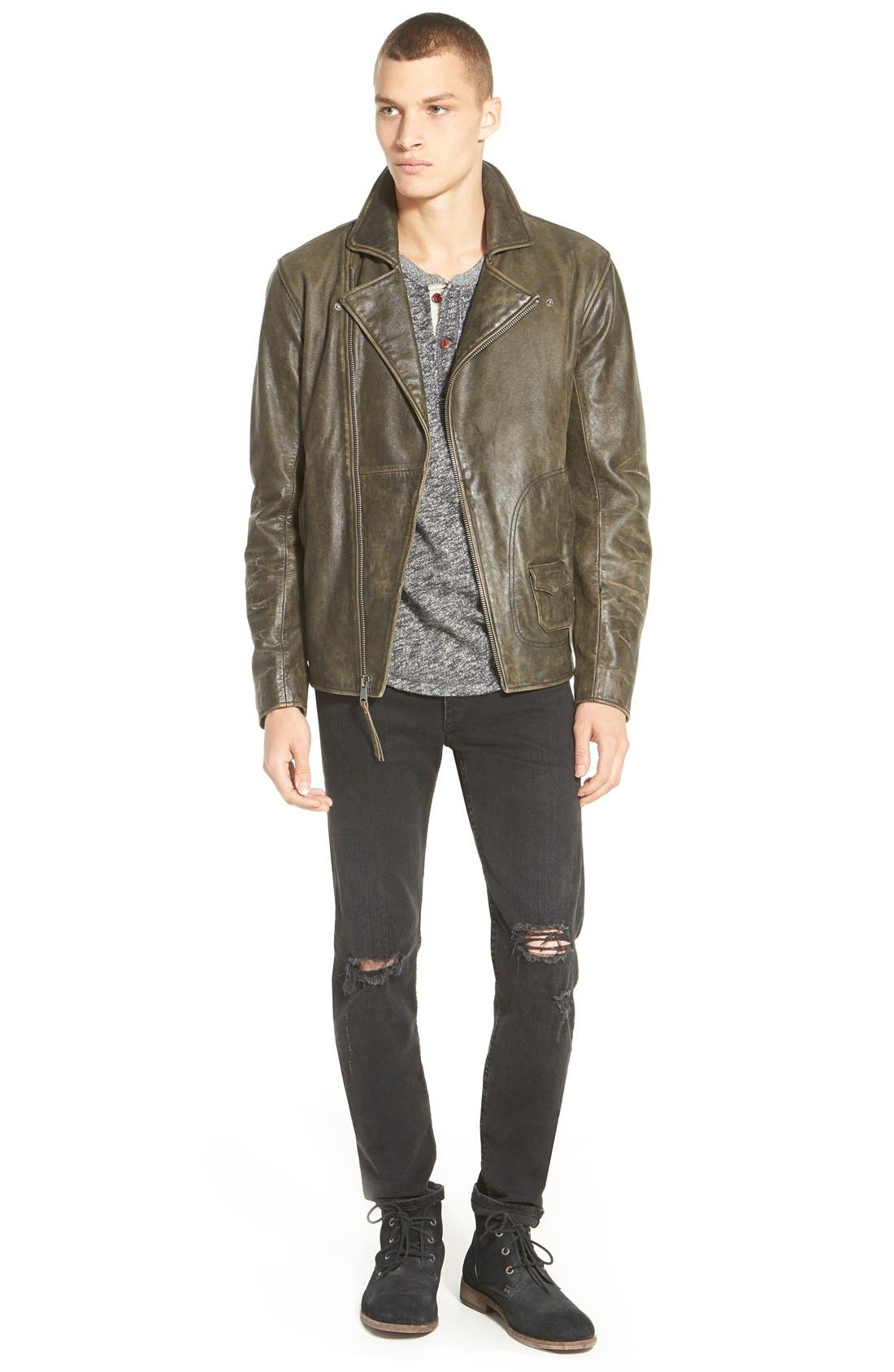 Alternate Image 10  - rag & bone Standard Issue 'Fit 1' Skinny Fit Jeans (Rock with Holes)