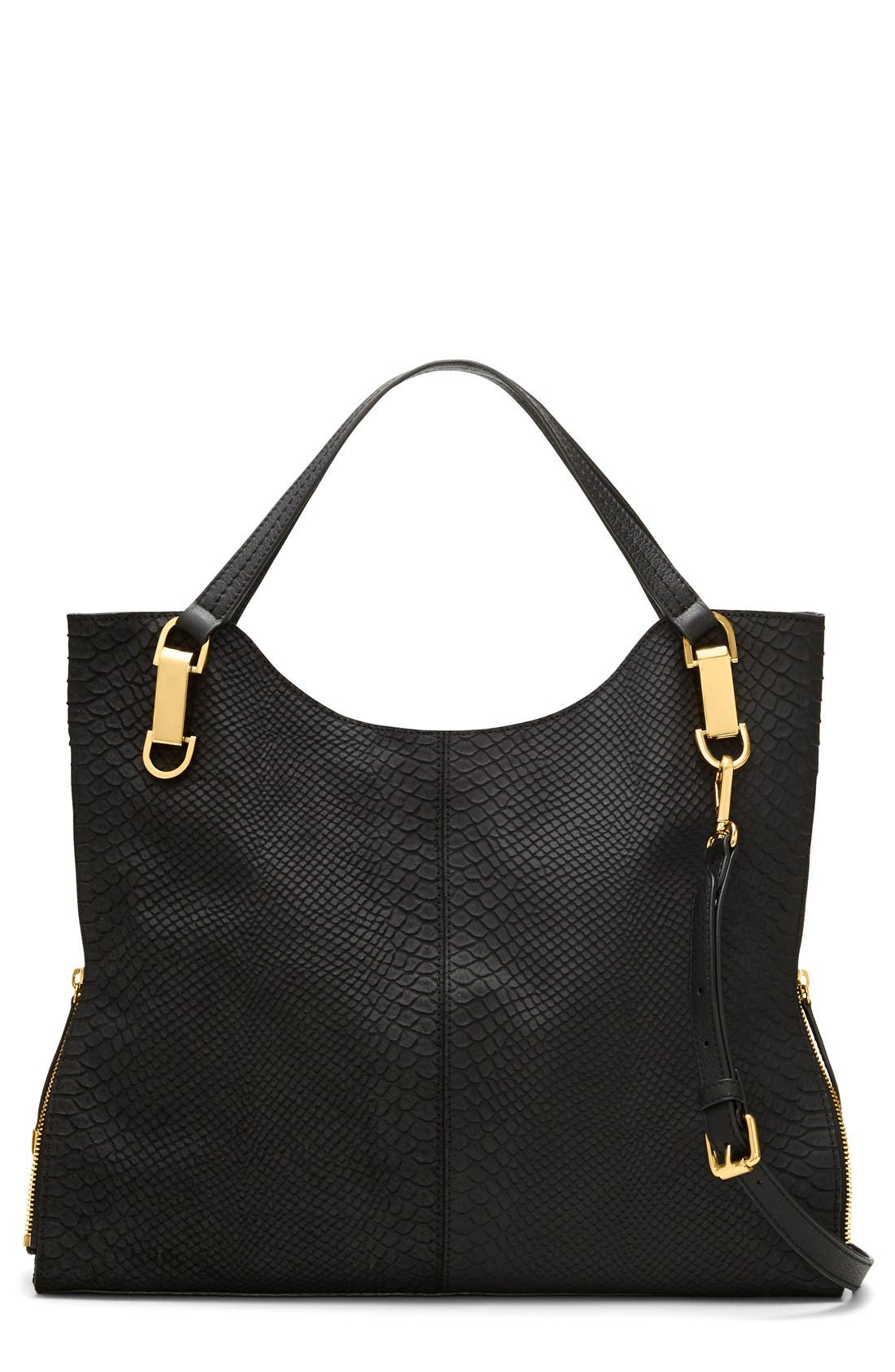 Main Image - Vince Camuto 'Riley' Snake Embossed Leather Tote