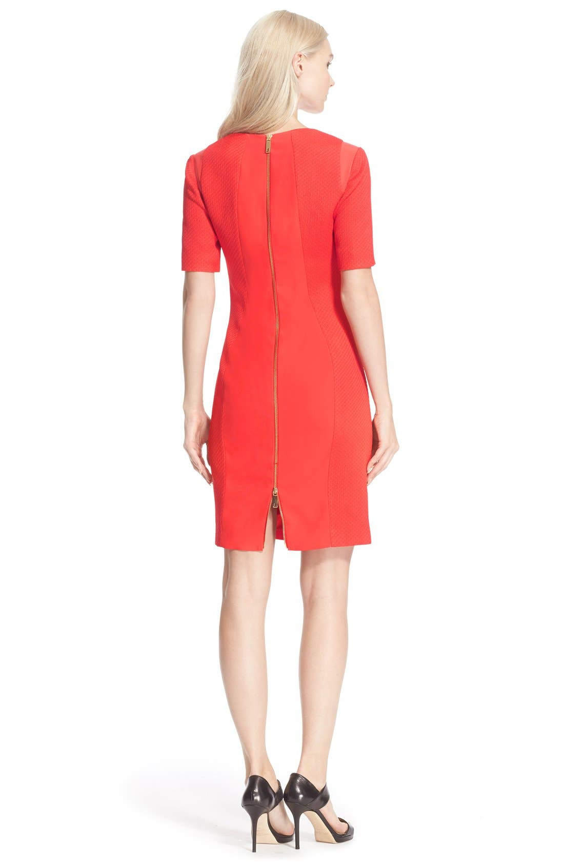 Alternate Image 2  - Ted Baker London 'Abrial' Mesh Panel Body-Con Dress
