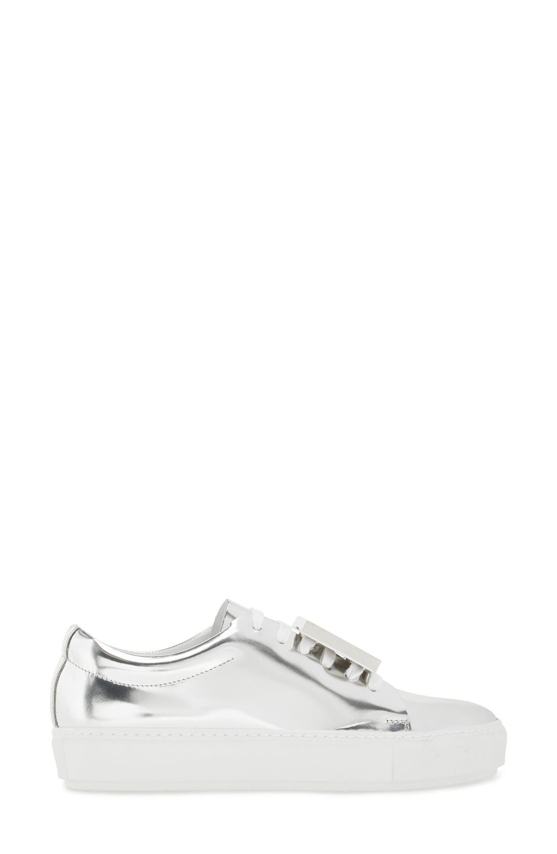 Alternate Image 4  - ACNE Studios 'Adriana' Silver Metallic Sneaker (Women)
