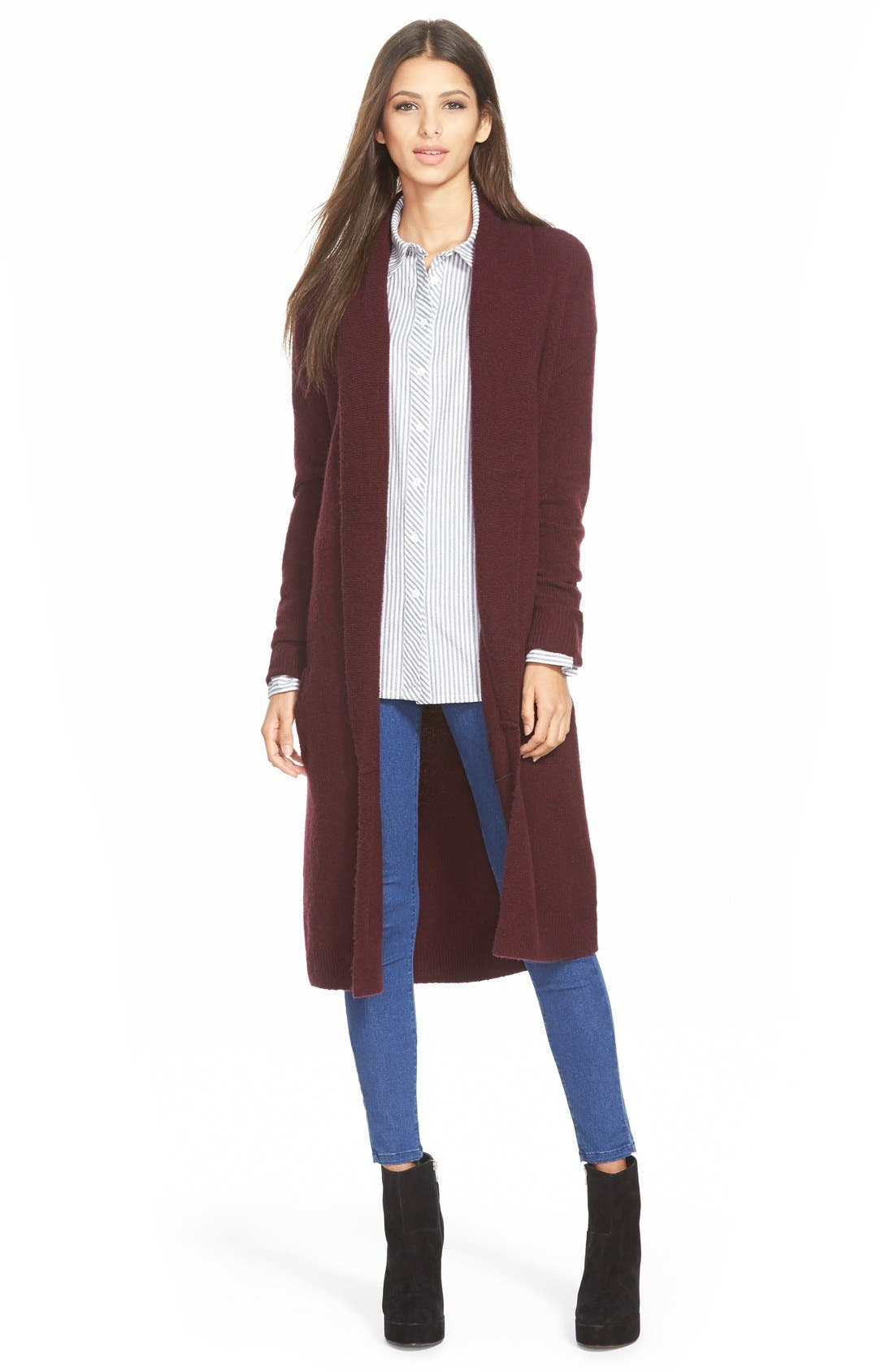 Main Image - Leith Long Open Front Cardigan