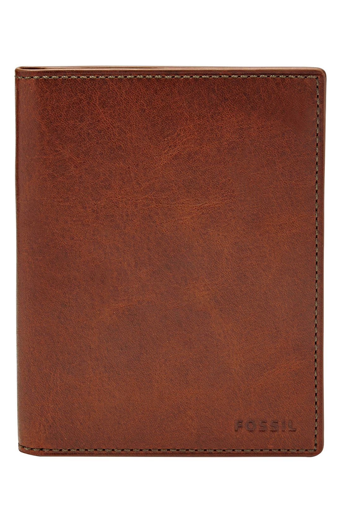 Main Image - Fossil Leather Passport Case