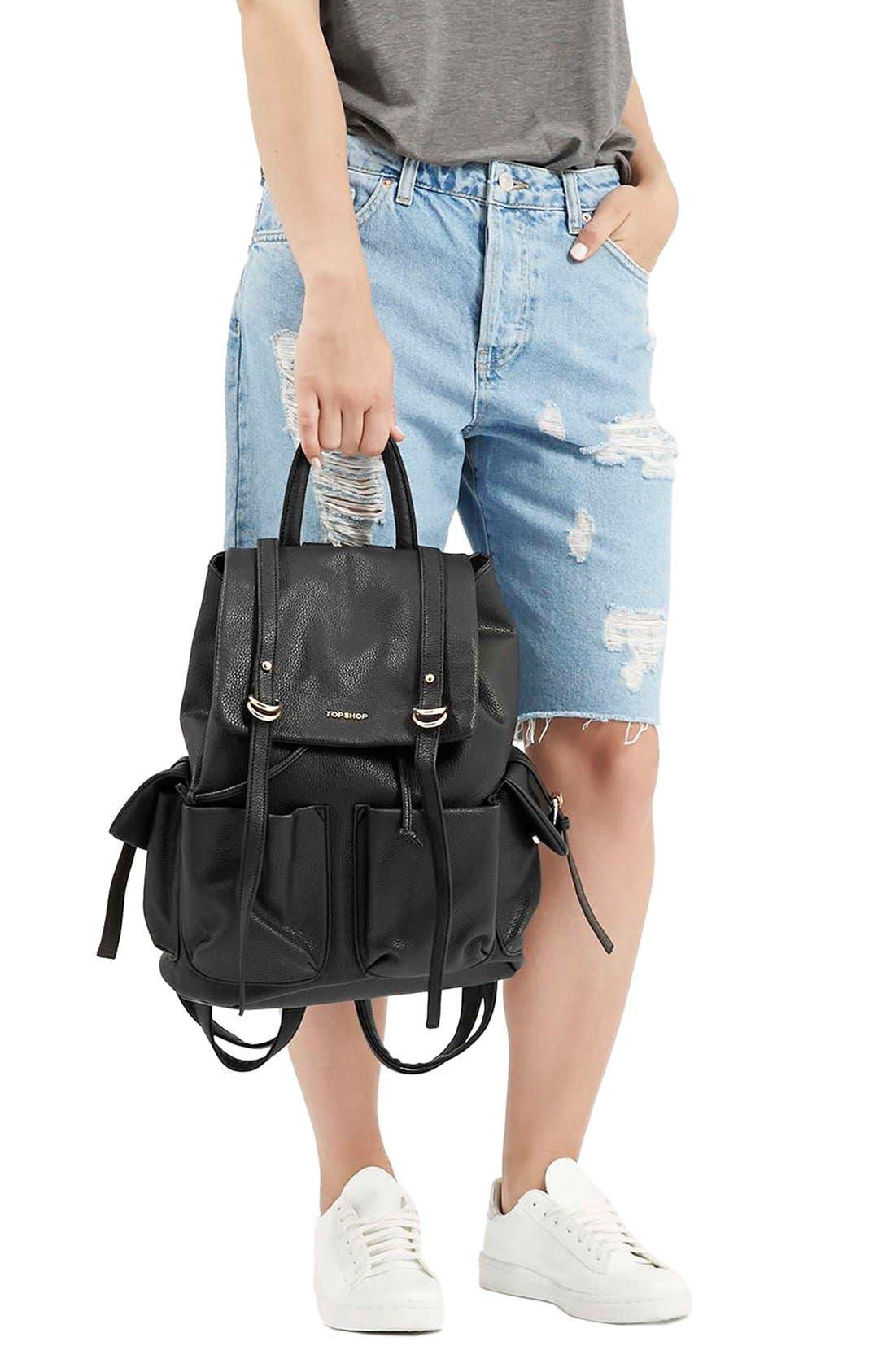 Alternate Image 2  - Topshop 'Edinburgh' Faux Leather Backpack