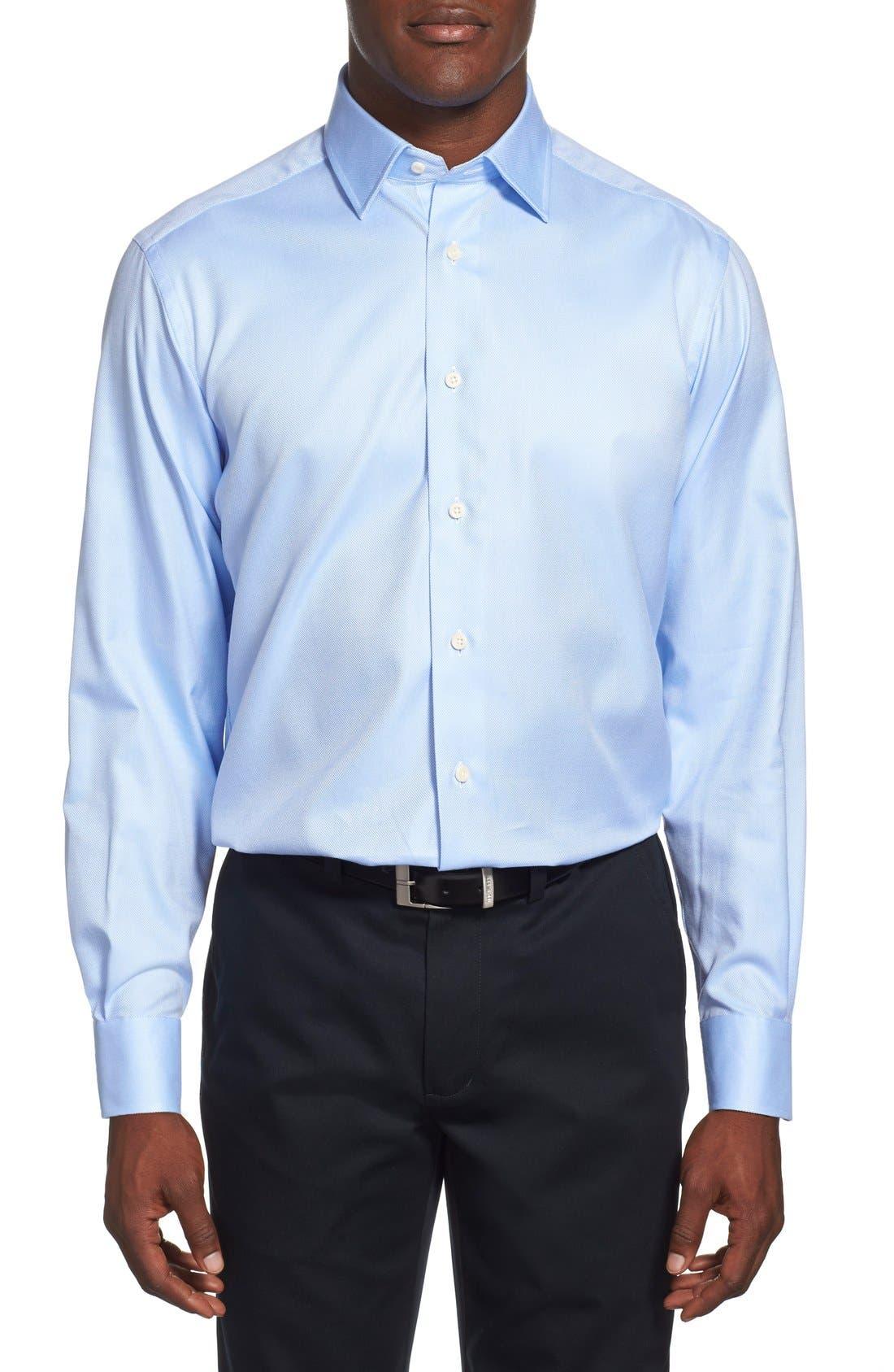 Alternate Image 2  - David Donahue Regular Fit Oxford Dress Shirt