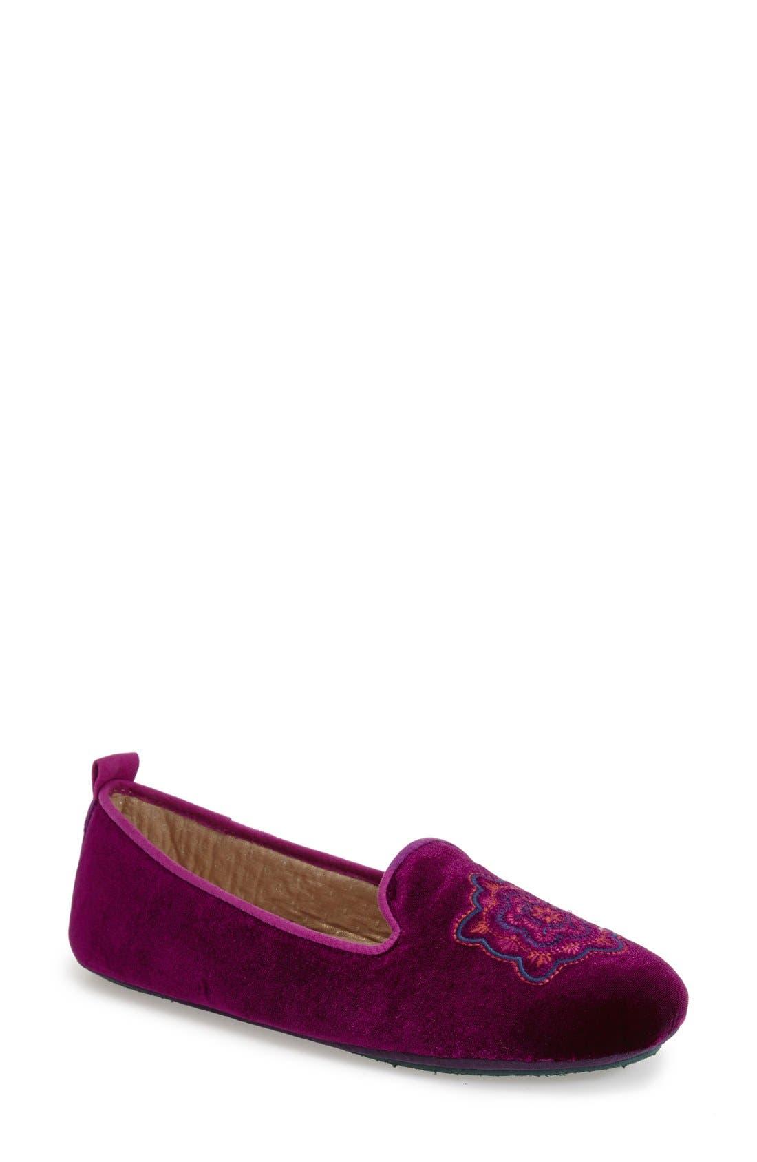 Acorn Embroidered Slipper (Women)
