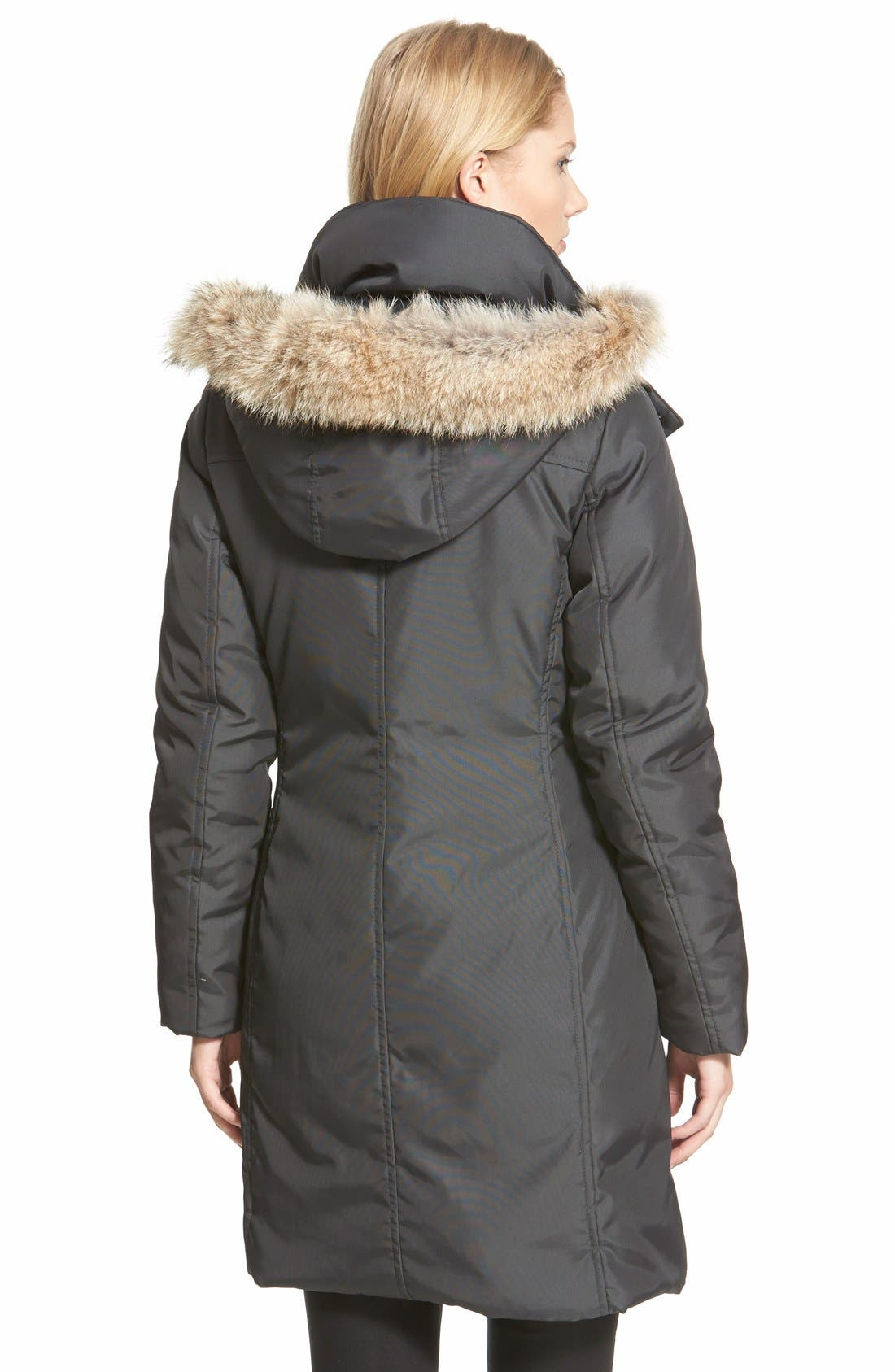 Alternate Image 2  - Andrew Marc Long Down Parka with Genuine Coyote Fur Trim