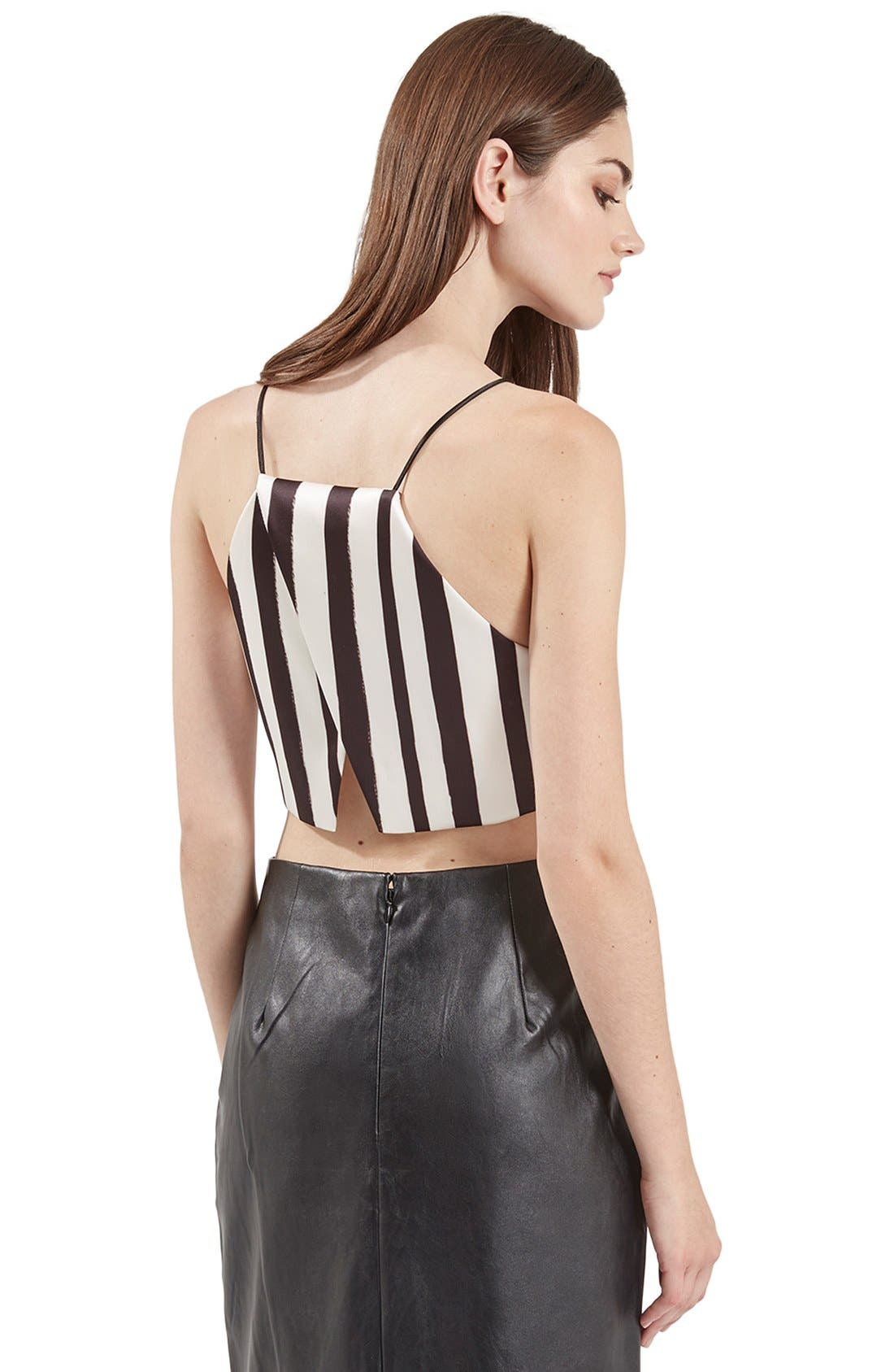 Alternate Image 3  - Topshop Stripe Wrap Back Crop Top