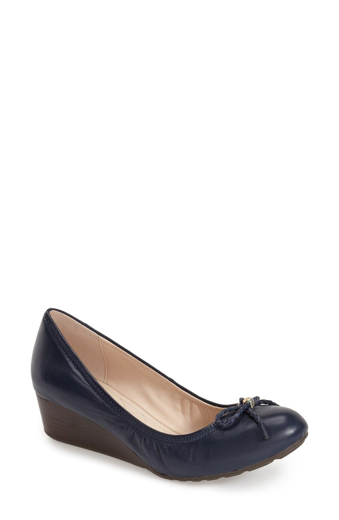 COLE HAAN 'Tali' Bow Wedge Pump