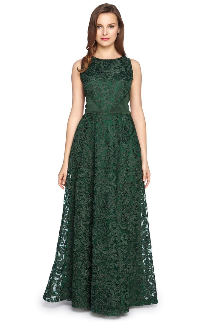 Tahari Corded Lace Fit & Flare Gown | Nordstrom