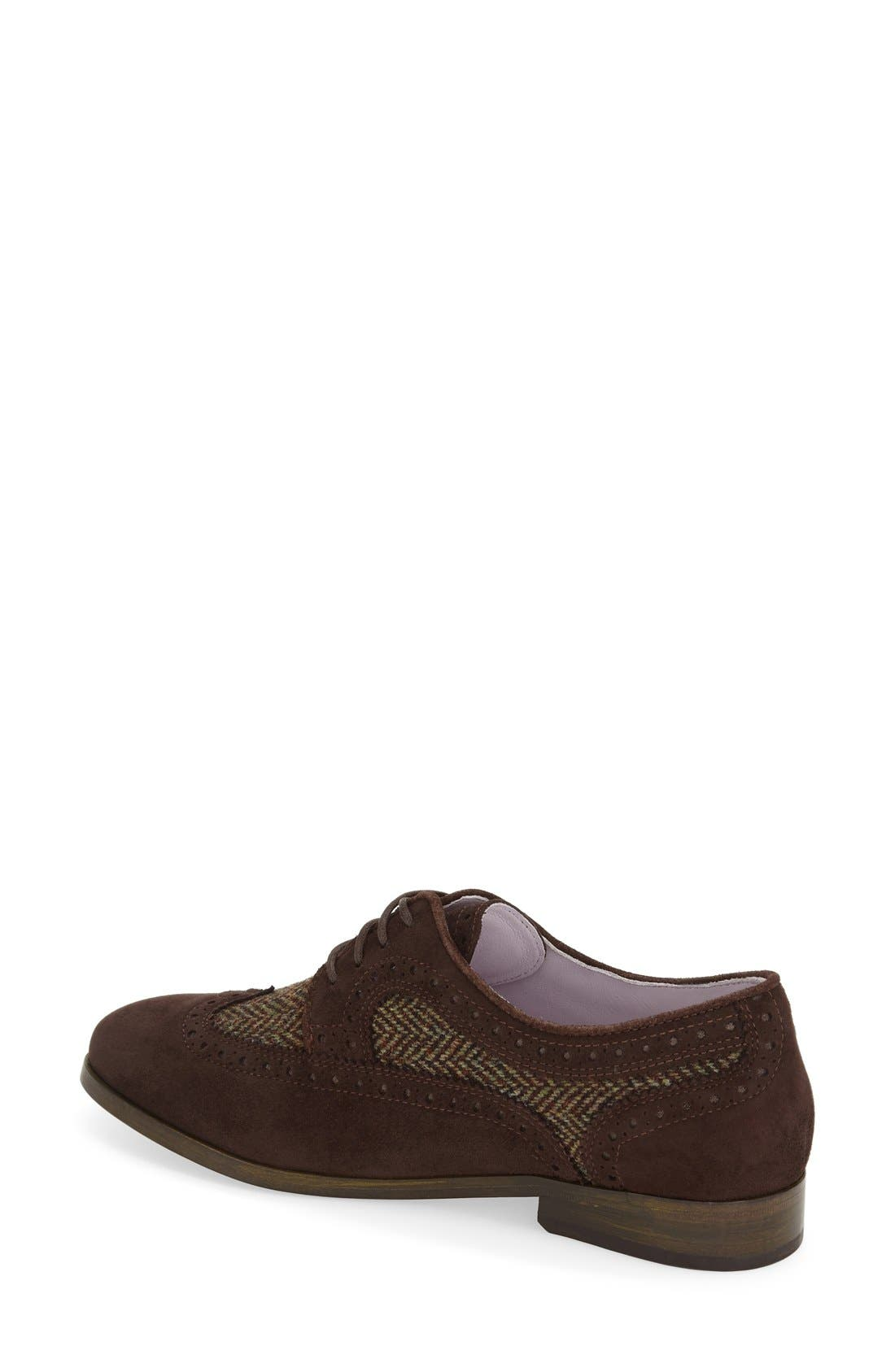 Alternate Image 2  - Johnston & Murphy 'Dinah' Lace-Up Wingtip Oxford (Women)