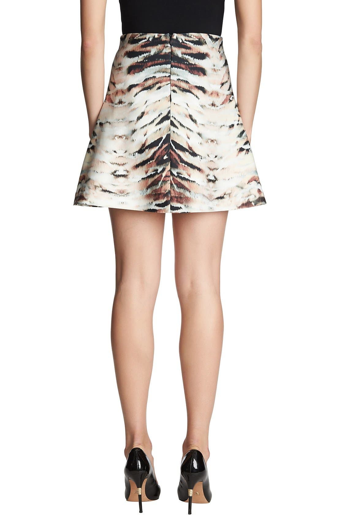 Alternate Image 2  - 1.STATE Animal Print Scuba Skirt