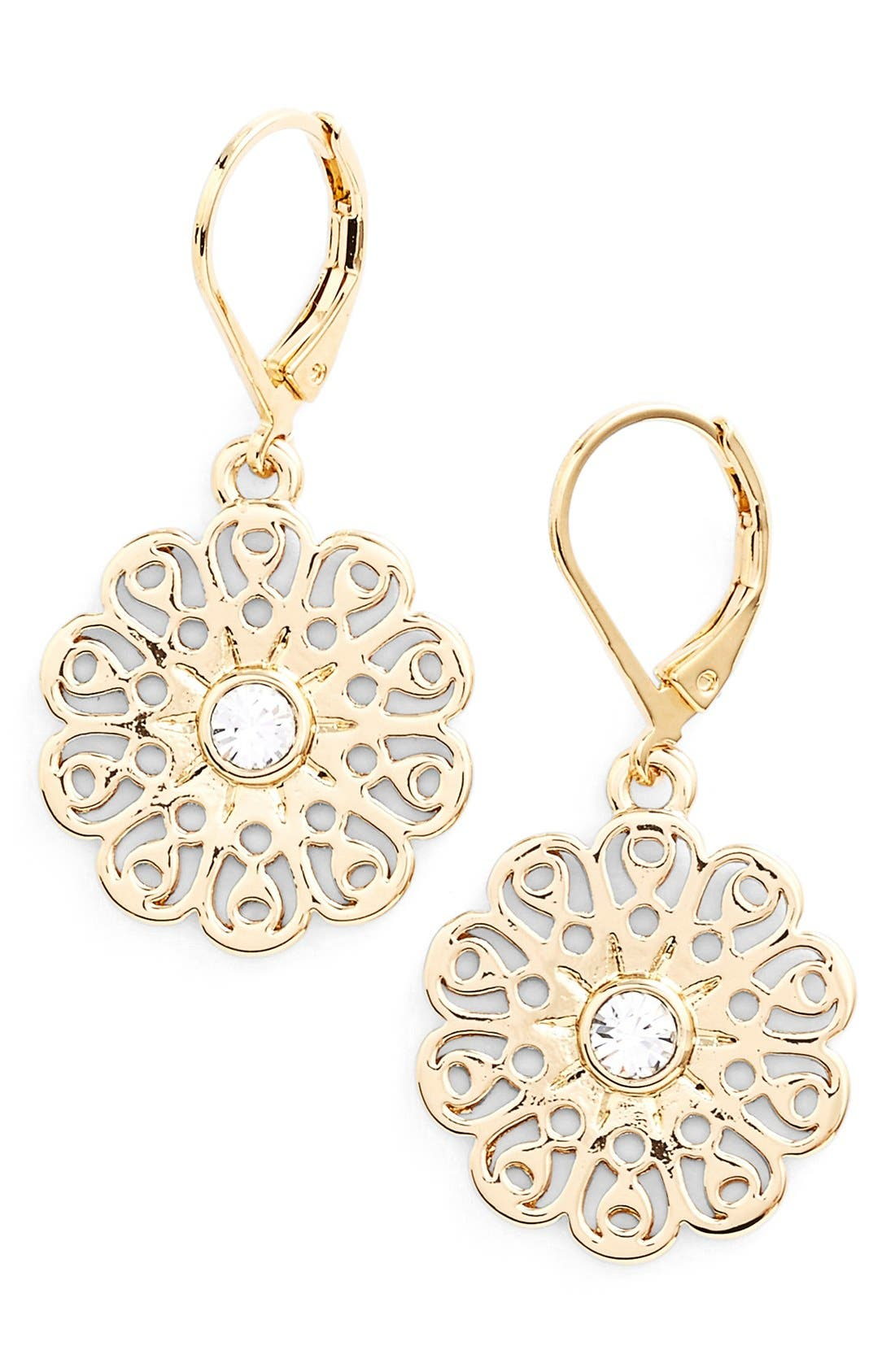 Alternate Image 1 Selected - katespade new york'strike gold' drop earrings
