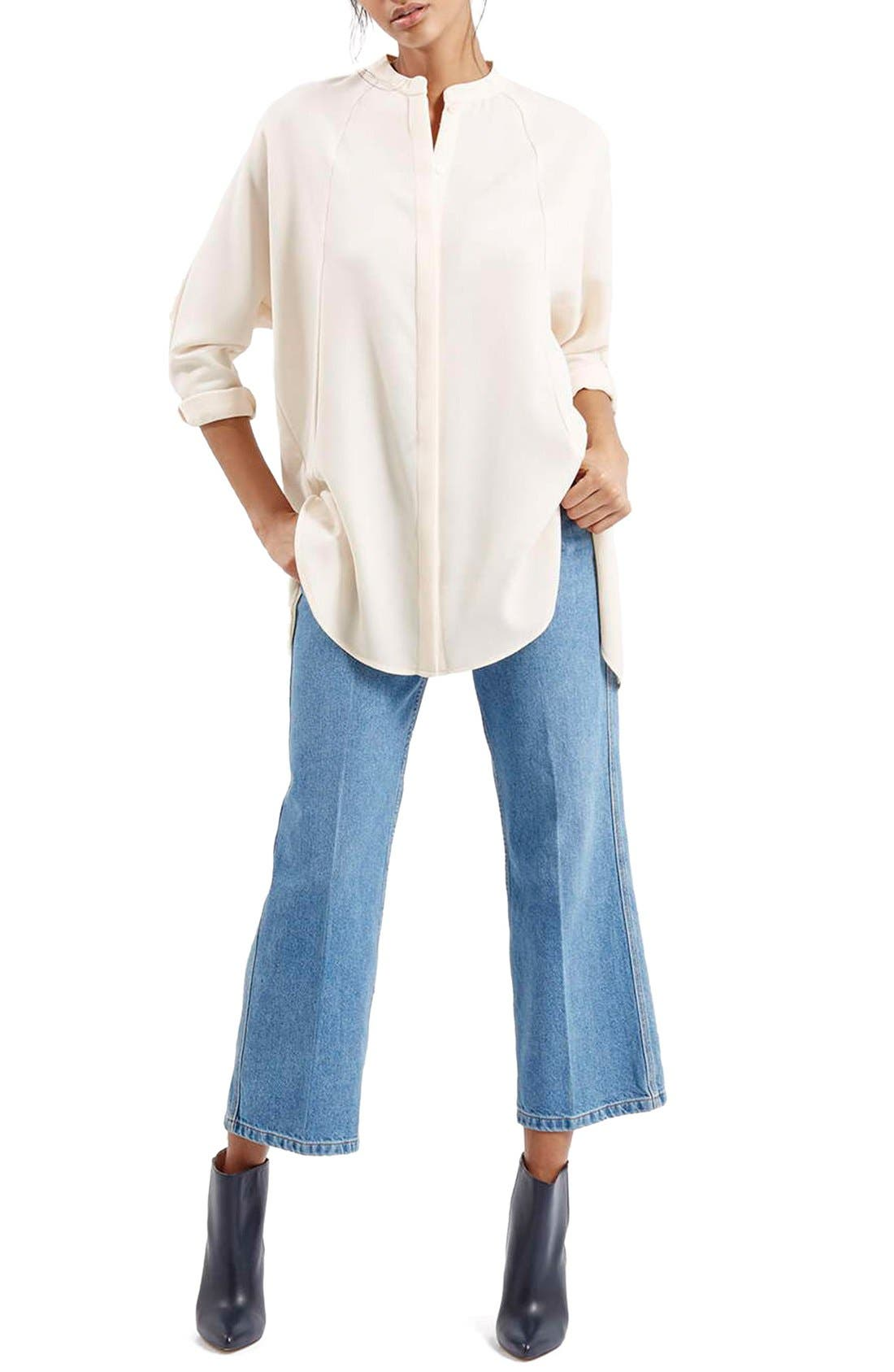 Alternate Image 2  - TopshopSplit Back High/Low TunicShirt
