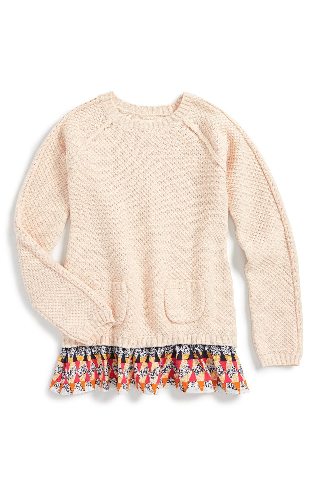 Alternate Image 1 Selected - Tucker + Tate Layered Ruffle Sweater (Toddler Girls, Little Girls & Big Girls)