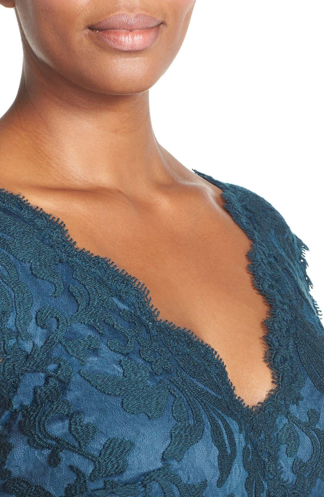 Alternate Image 4  - Tadashi Shoji Embroidered Lace Sheath Dress (Plus Size)