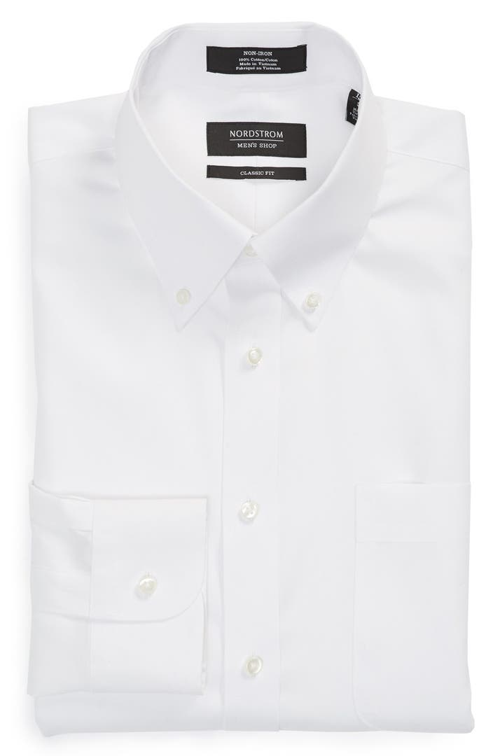 Nordstrom men 39 s shop classic fit non iron solid dress for What is a non iron shirt