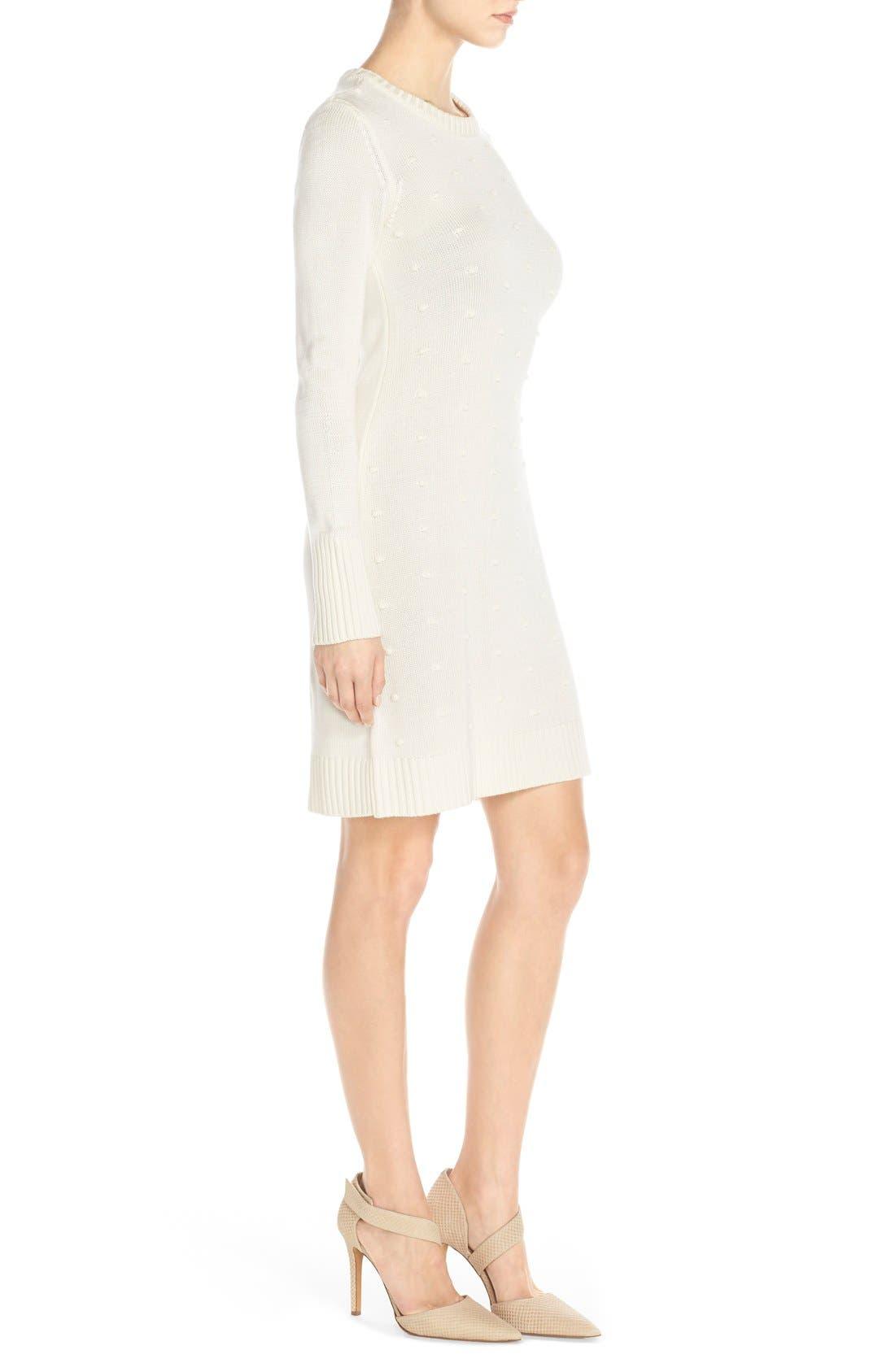Alternate Image 3  - Eliza J NubbyKnit Shift Sweater Dress