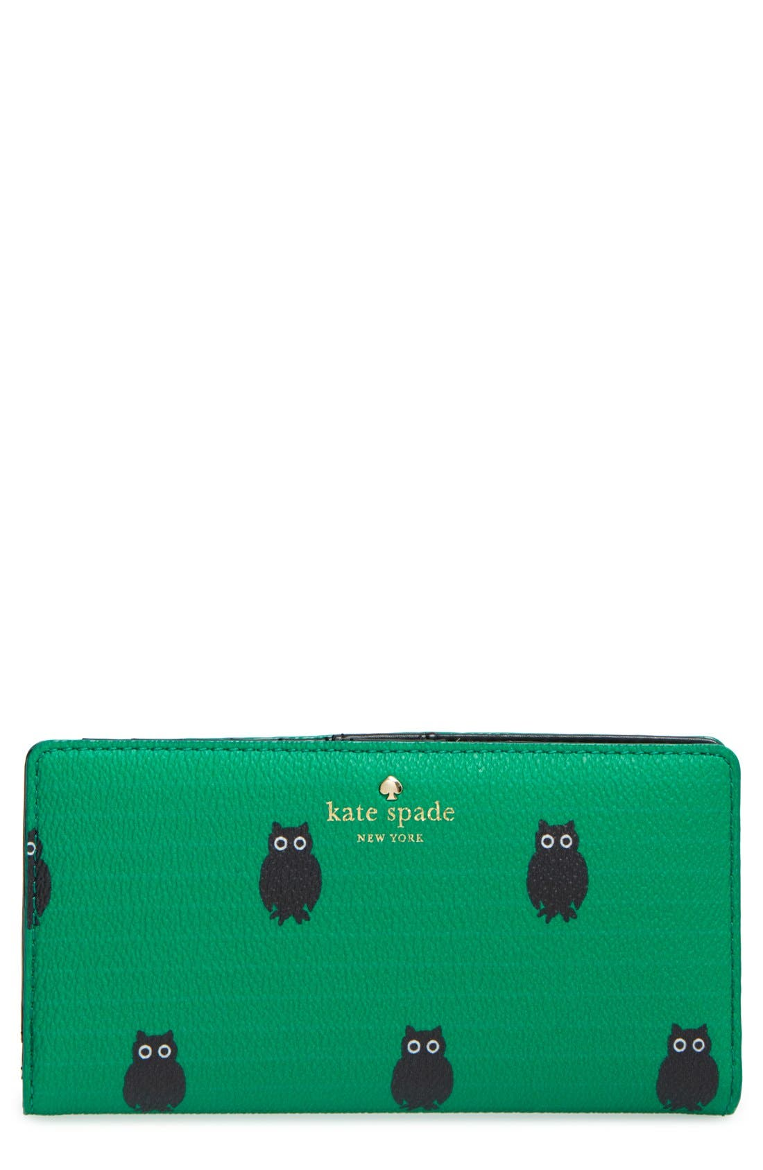 Main Image - kate spade new york'hawthornelane - owls stacy' wallet (Nordstrom Exclusive)