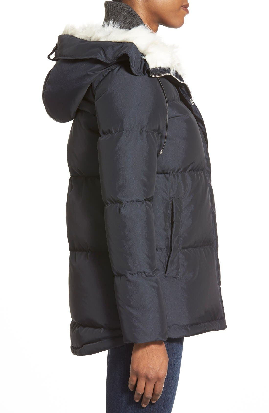 Alternate Image 3  - Bernardo Hooded Down & Feather Fill Parka with Faux Fur Trim