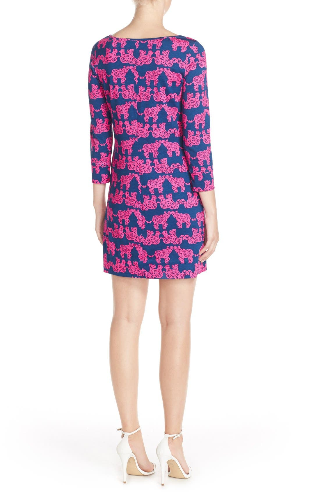 Alternate Image 2  - Lilly Pulitzer® 'Marlowe' Elephant Print Pima Cotton Minidress