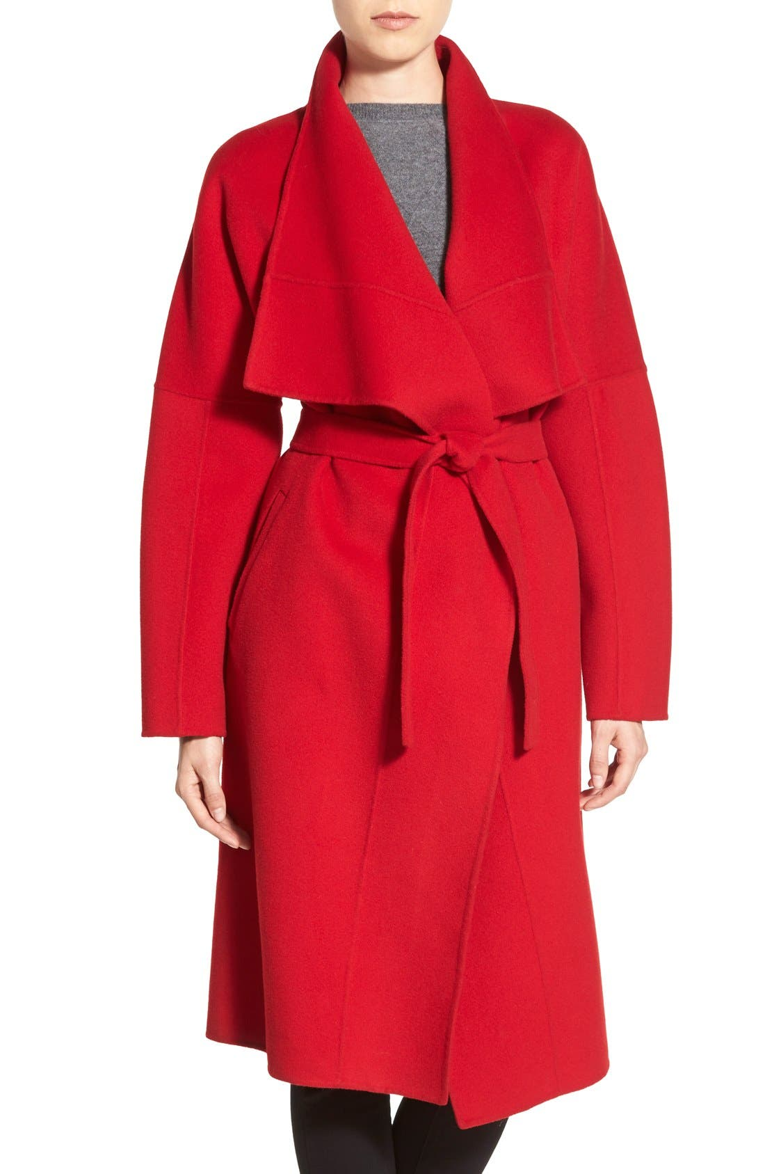 Alternate Image 2  - Badgley Mischka 'Audrey' Long Double Face Wrap Coat