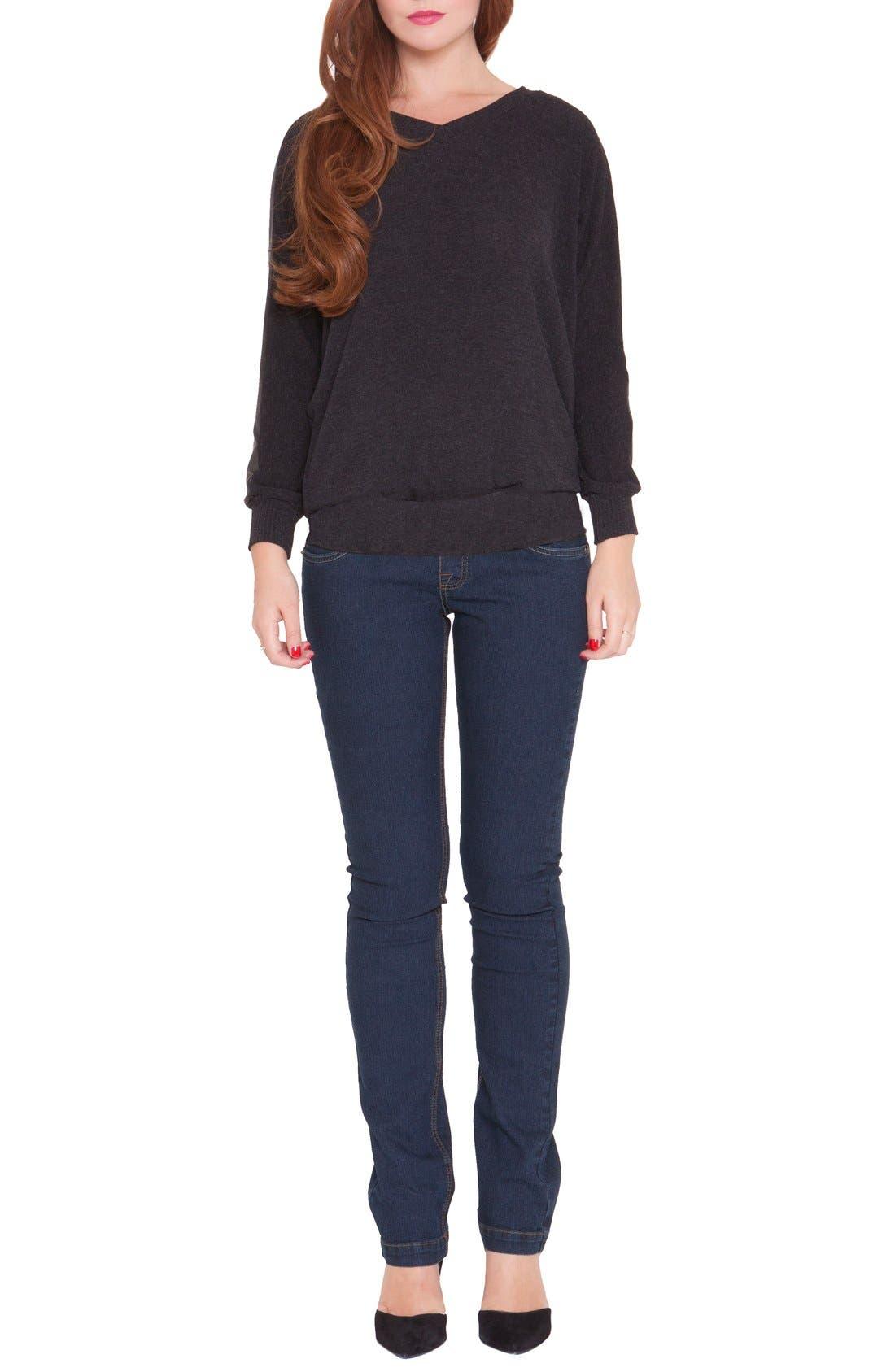 Olian 'Victoria' DolmanSleeveMaternity Sweatshirt