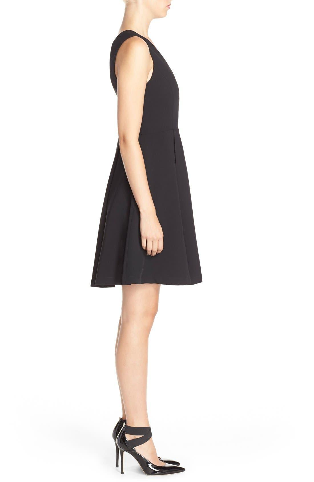 Alternate Image 3  - Adelyn Rae Asymmetrical Fit & Flare Dress