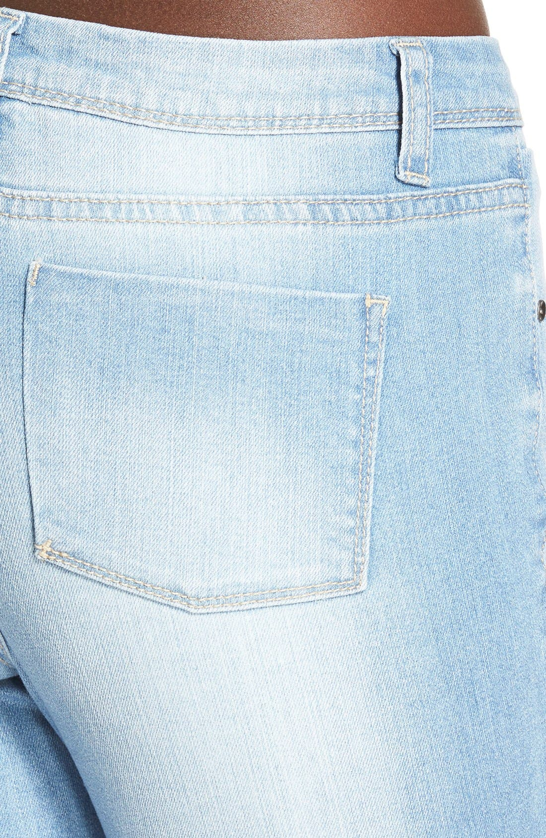 Alternate Image 4  - Generra High Waist Skinny Jeans (70s Blue)