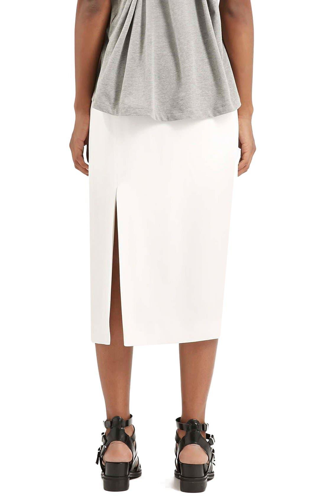 Alternate Image 3  - Topshop Boutique Side Slit Midi Skirt
