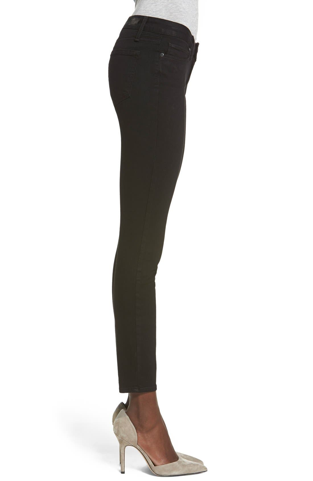 Alternate Image 3  - PAIGE 'Transcend - Verdugo' Ankle Ultra Skinny Jeans (Black Shadow)