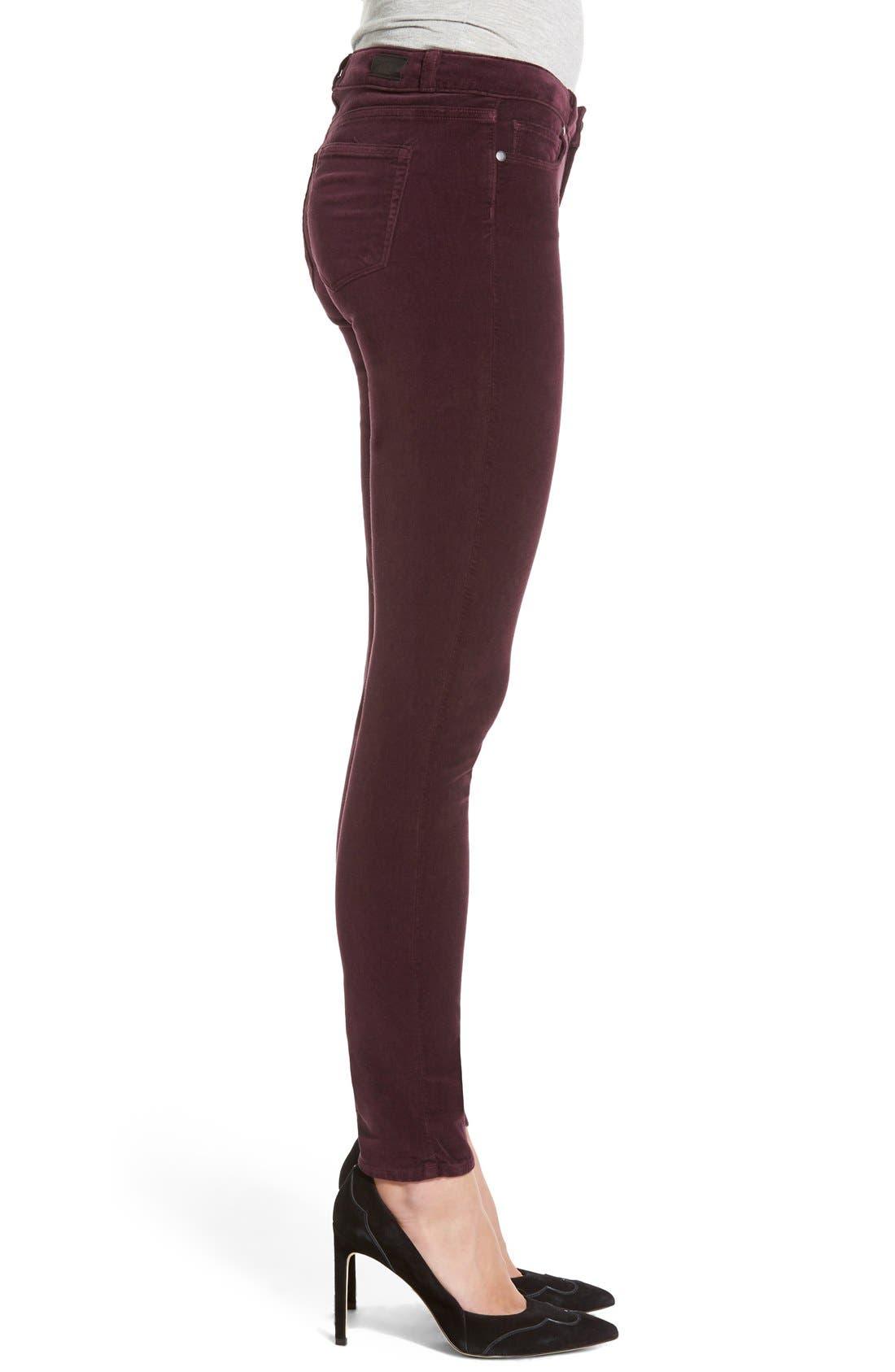 Alternate Image 4  - Paige Denim 'Verdugo' Velvet Ultra Skinny Jeans (Juliet)