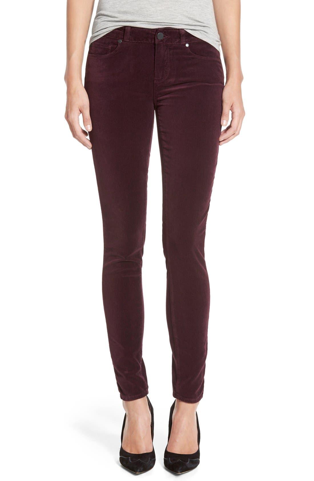 Alternate Image 1 Selected - Paige Denim 'Verdugo' Velvet Ultra Skinny Jeans (Juliet)