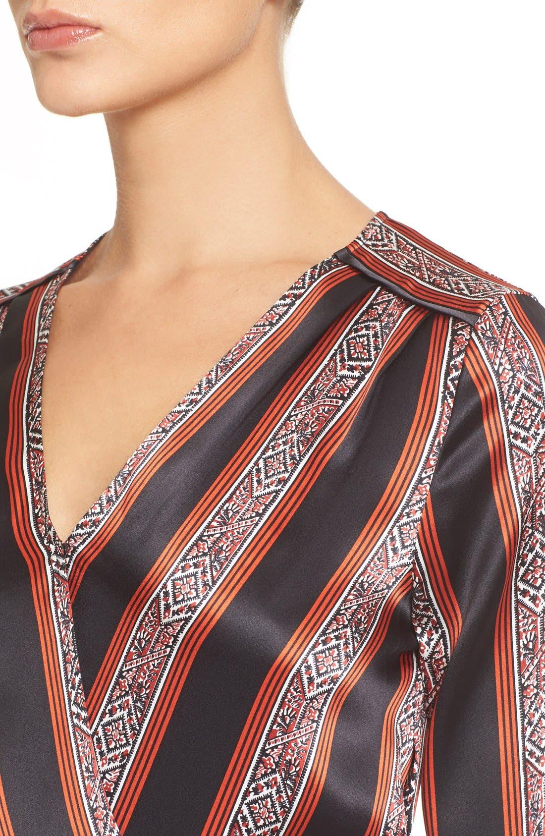 Alternate Image 4  - Veronica Beard 'Ivy' Print SilkFlounce Dress