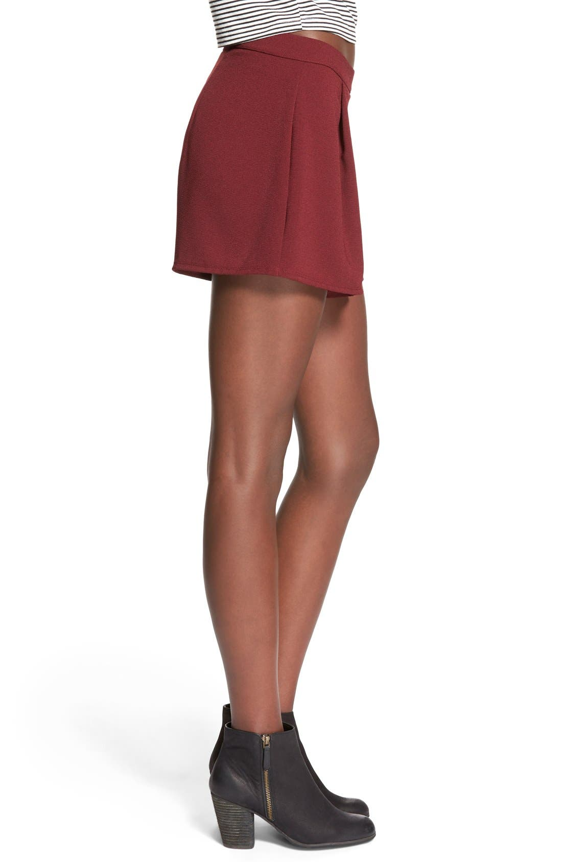 Alternate Image 3  - Lily White Pleat Front Knit Shorts