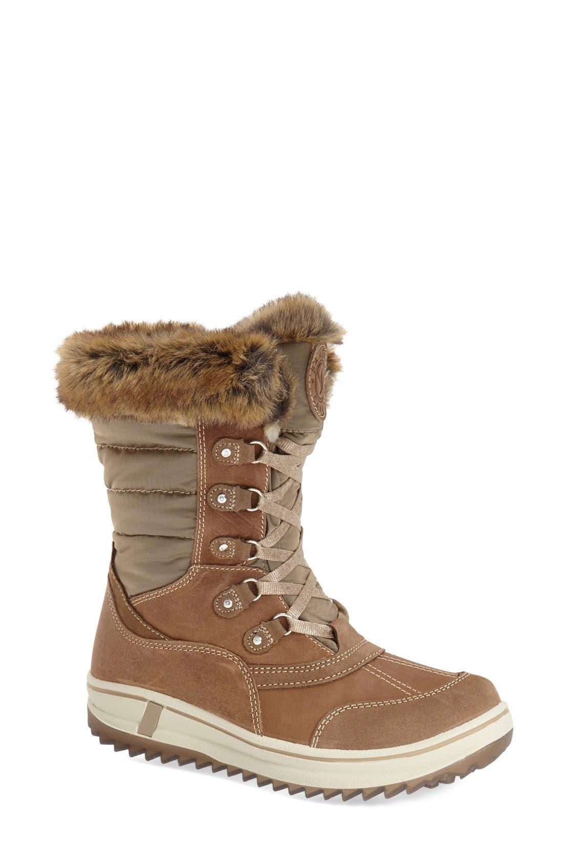 Main Image - Santana Canada 'Myrah' Faux Fur Waterproof Boot (Women)