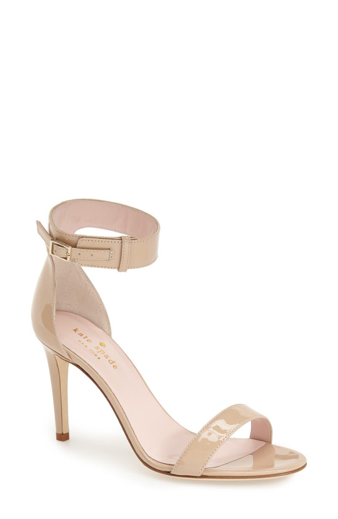 Alternate Image 1 Selected - kate spade new york 'isa' ankle strap sandal (Women)