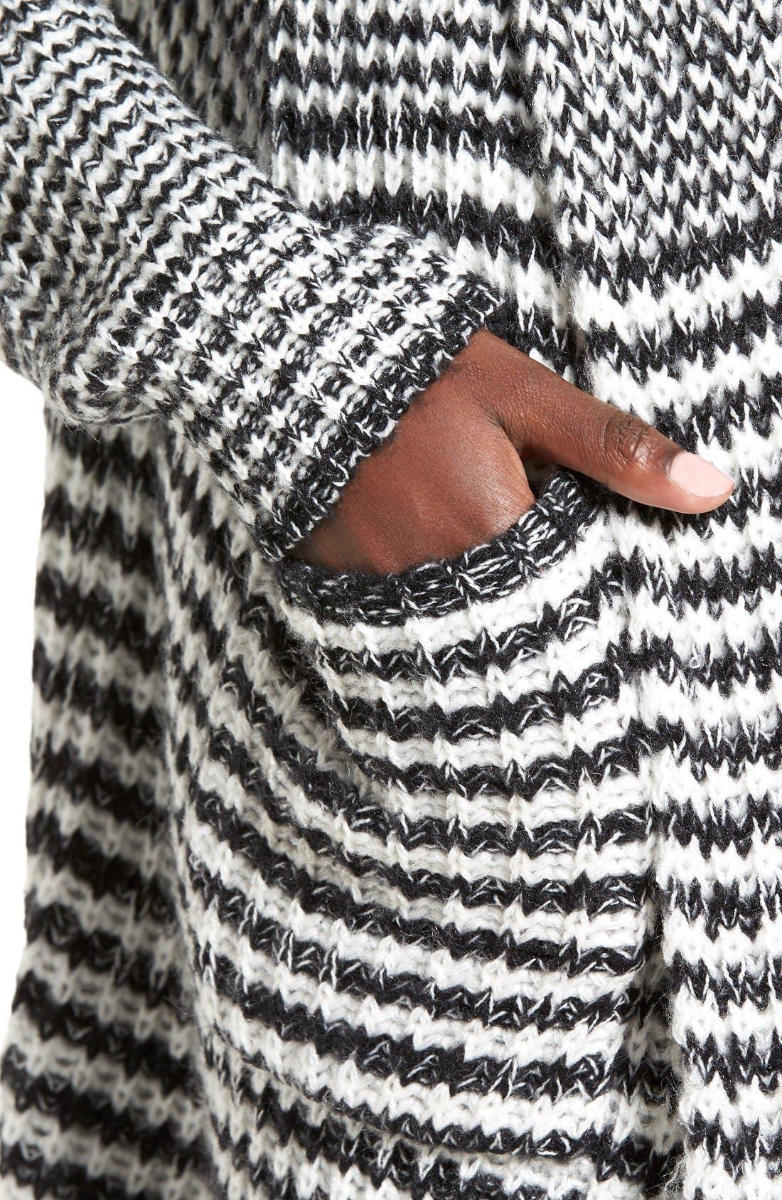 Alternate Image 4  - Woven Heart Stripe Long Cardigan