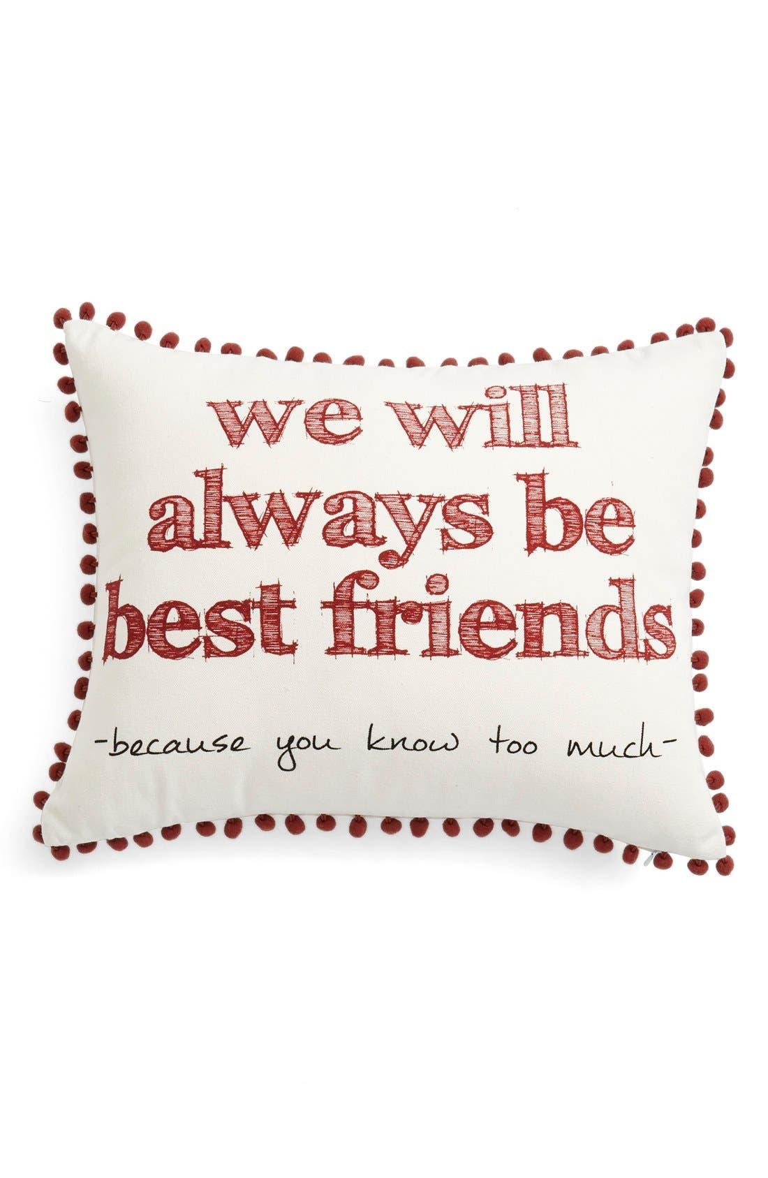 Main Image - Levtex'We Will Always Be Best Friends' Pillow