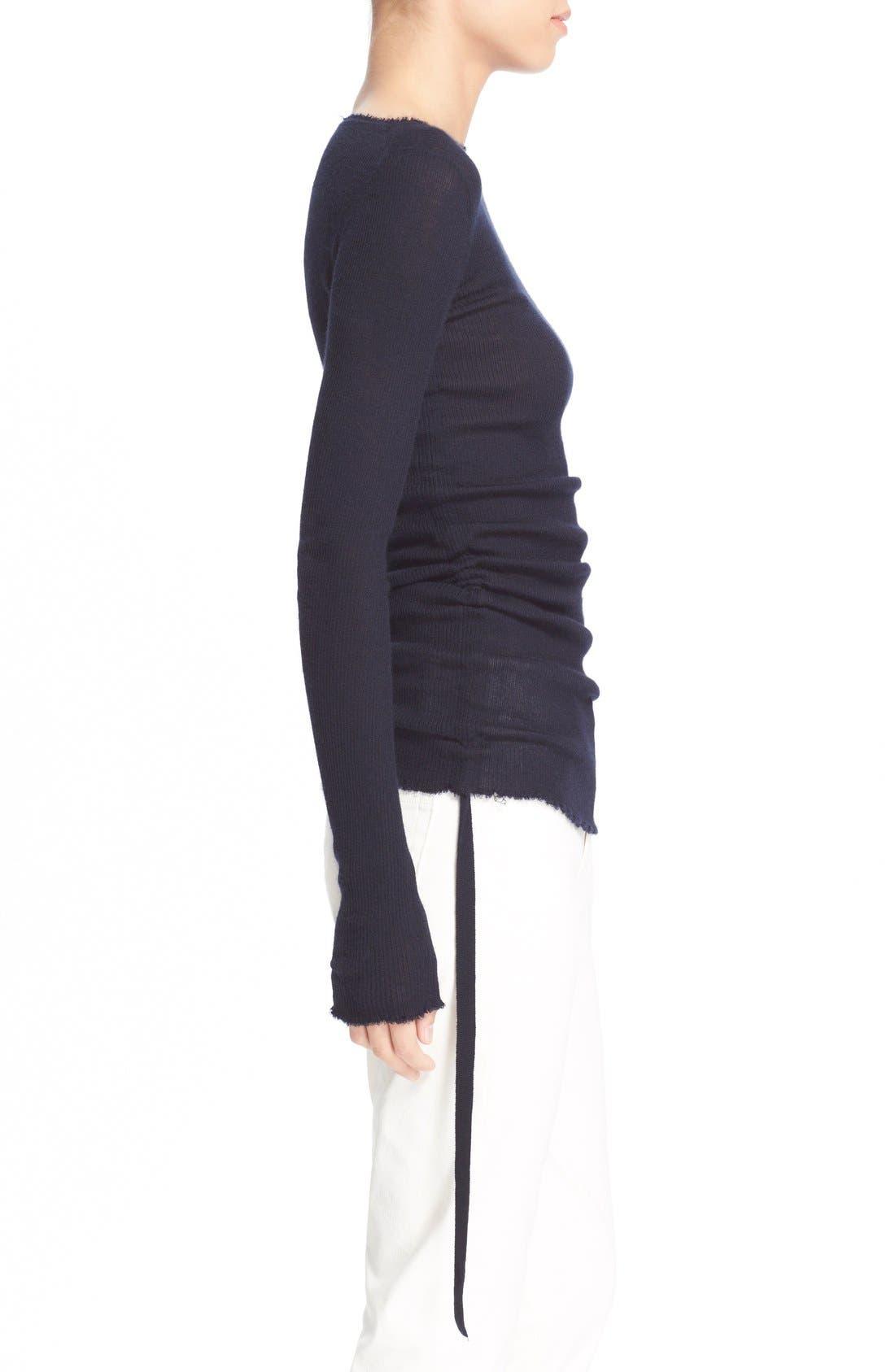 Alternate Image 3  - Helmut Lang RuchedCashmere Sweater