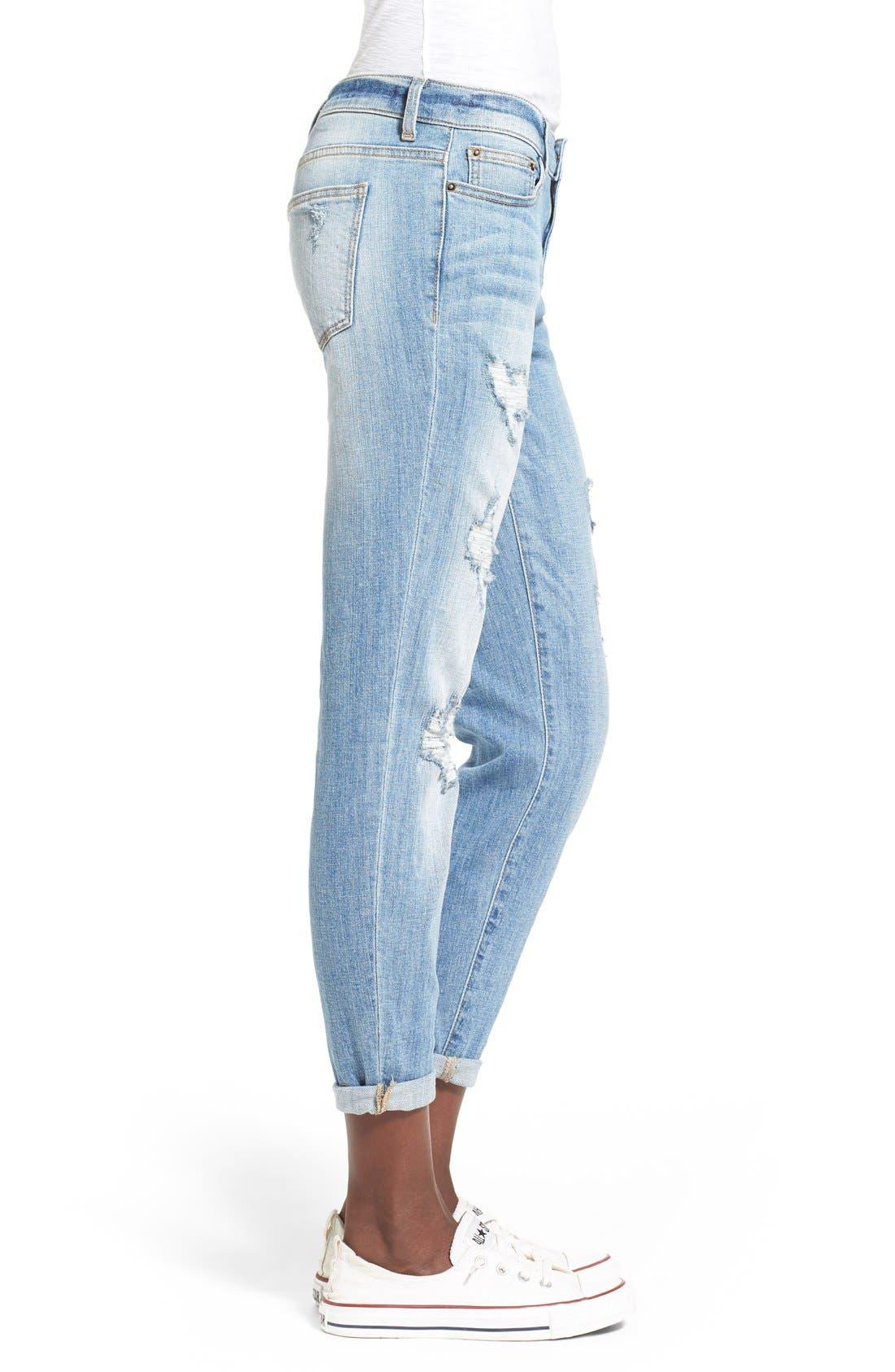 Alternate Image 3  - SPBlackDestroyed BoyfriendJeans(LTWash)