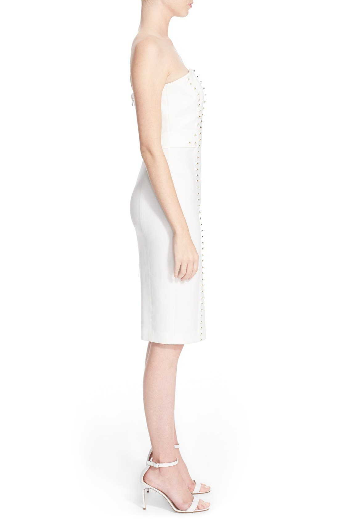 Alternate Image 5  - Versace Collection Studded Strapless Sheath Dress
