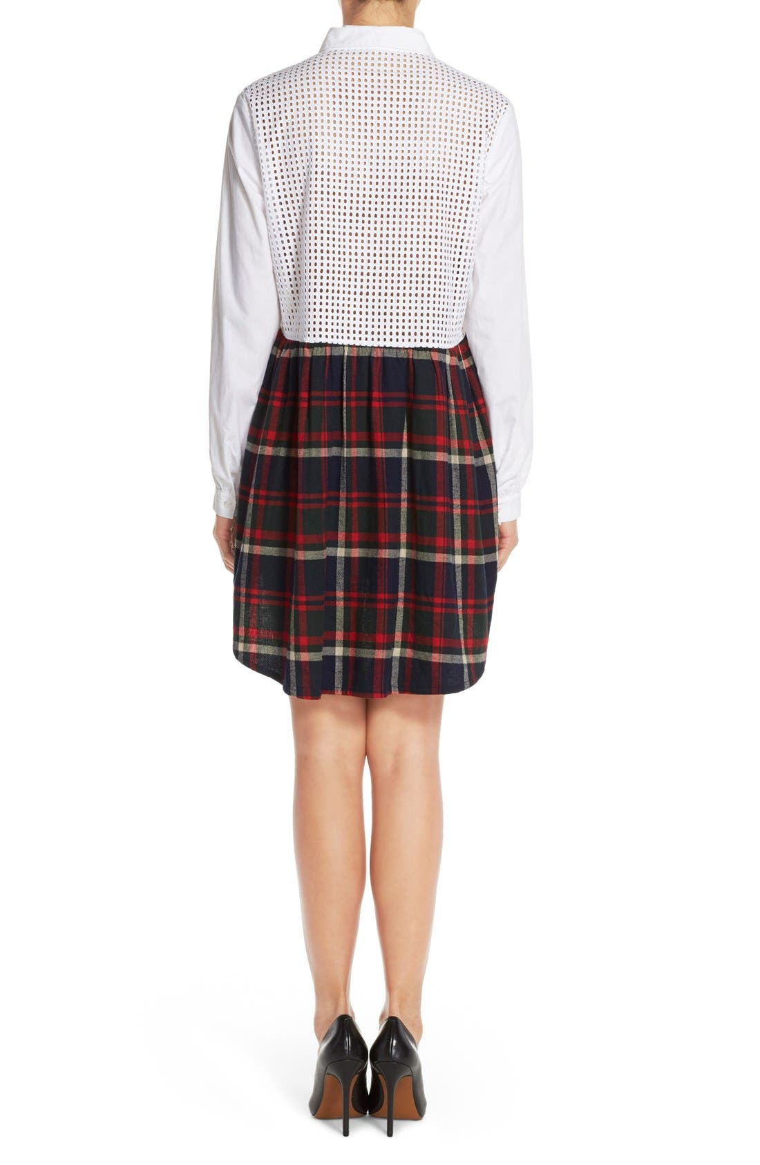 Alternate Image 2  - French Connection Twofer Cotton Plaid Shirtdress