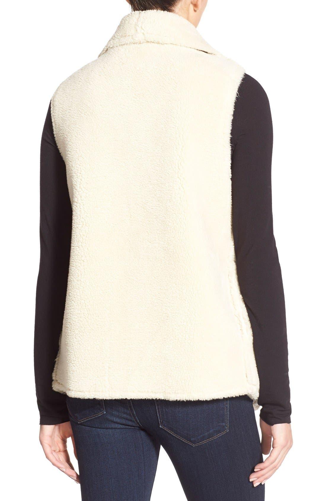 Alternate Image 2  - Velvet by Graham & Spencer Reversible Faux Shearling Vest