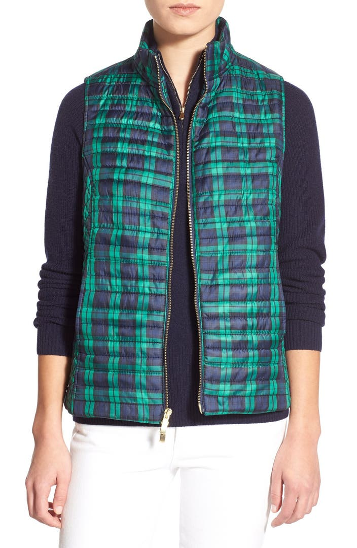 Vineyard Vines Holiday Plaid Quilted Vest Nordstrom