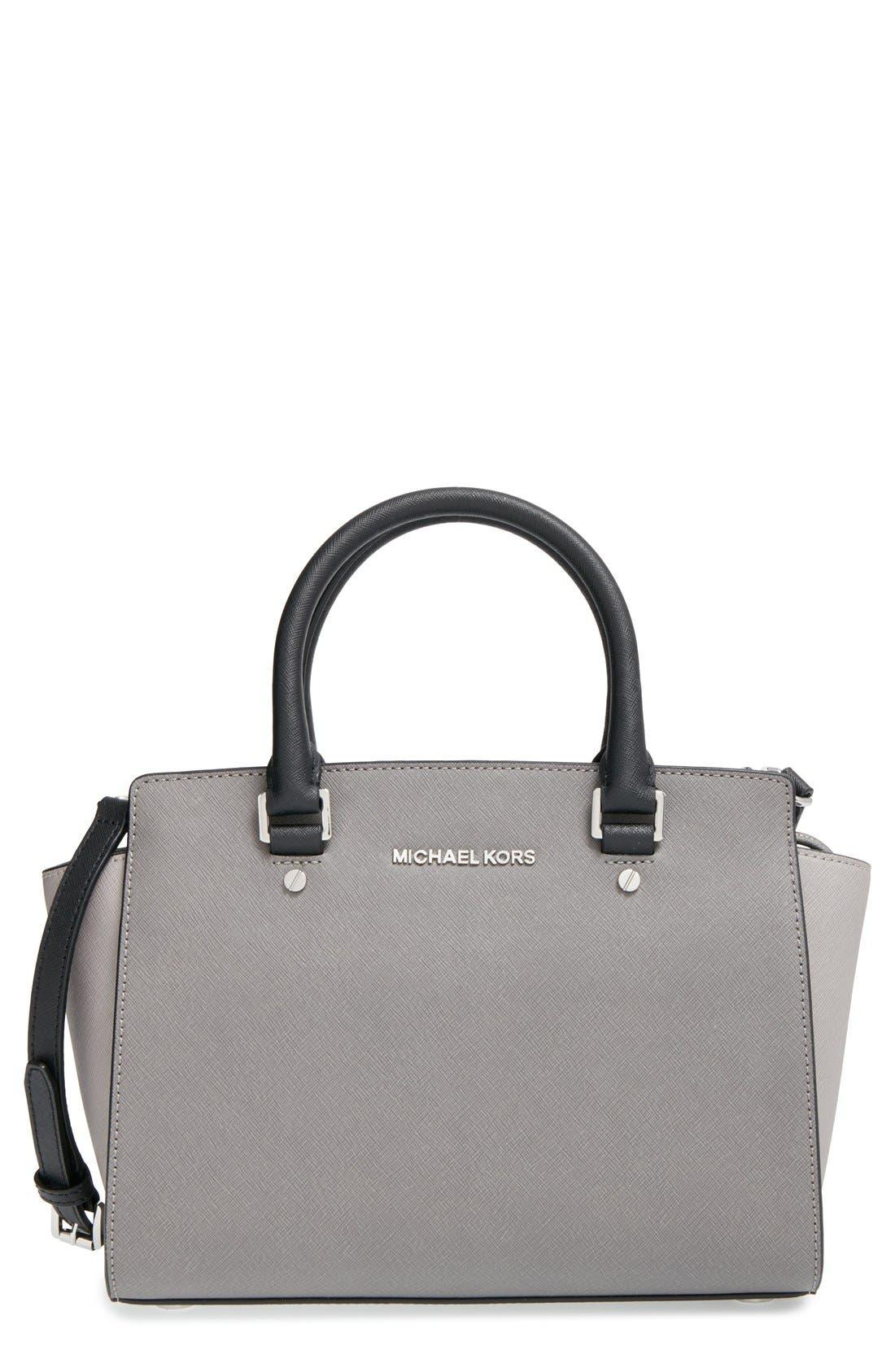 Alternate Image 1 Selected - MICHAEL Michael Kors 'Selma - Medium' Saffiano Leather Crossbody Bag
